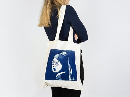 picture of printed tote bag — cat serafim [sold out]