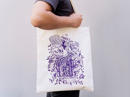 picture of printed tote bag — paulo albuquerque